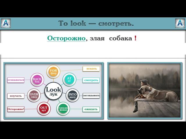 Фразовый глагол Look с примерами . Английский язык.