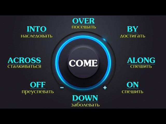 Фразовый глагол Come с примерами . Английский язык.