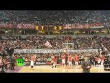 Сербские баскетбольные фанаты исполнили песню в память об ансамбле имени Алекс ...