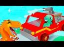 Динозаврики Пожарники.Спасаем Остров Динозавров.Мультики про Машинки для детей...