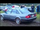 Audi 100 C4/S4 Quattro pflügt Wiese um