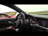 Standstill MTM Audi RS6 Sedan 702 HP (ECU) vs BMW M6 Coupe (stock) view from RS6
