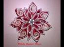 Kanzashi 19 - Flor de Cetim. DIY - Satin Flower/Fiore di Raso /Satin-Blume/サテン花