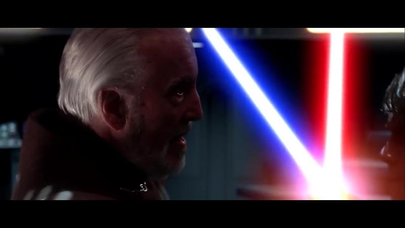 Оби-Ван Кеноби и Энакин Скайуокер против графа Дуку - Звёздные войны. Эпизод 3_