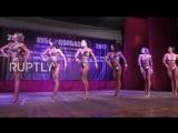 Ukraine- Donbass bodybuilders flex muscles at first official tournament