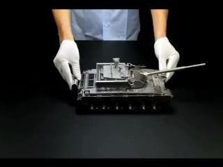 Фрезеровка и сборка точной модели китайского танка Type 99