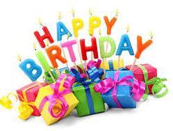 The theme:   Happy birthday!
