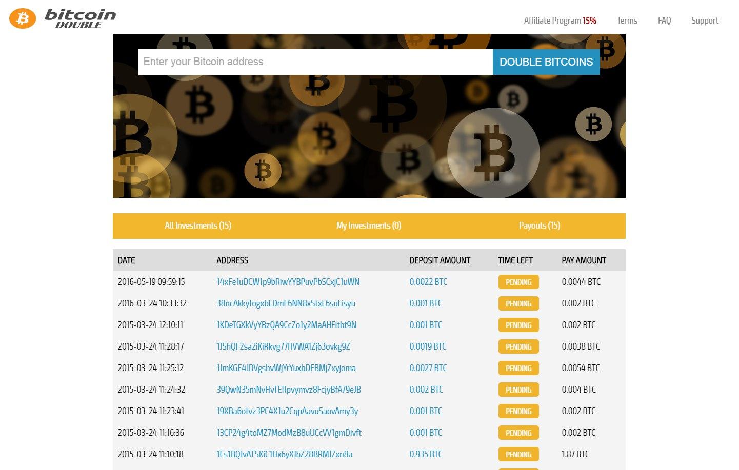 Скрипт удвоителя биткоин Bitcoin Double