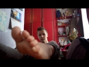 Young teen feet and socks play