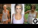 Девушки в мокрой одежде без лифчика Мокрые футболки майки и красавицы