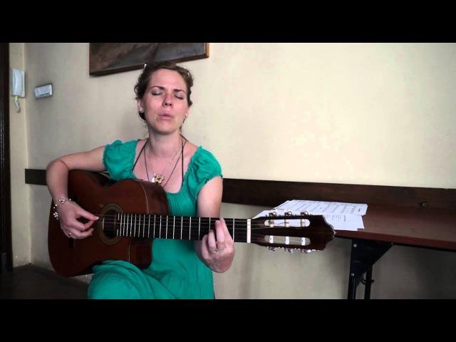 Mój Jezu Mój Zbawco Maria Ziółkowska na próbie (Gitara i Śpiew)