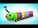 Мультик для малышей - УЧИМ ЦВЕТА И ЦИФРЫ Цветная Гусеница   Учимся считать от 1 до