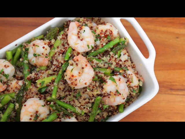 One Pot Garlic Shrimp Quinoa | Easy Weeknight Dinners