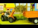 Видео для детей про Трактор и Экскаватор Бульдозер в Городке 2D Мультфильм для де