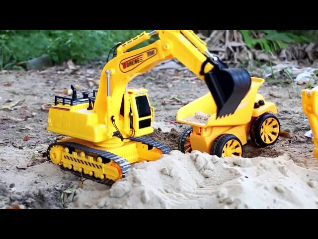 JCB Excavator - Real Trucks For Kids - Children Video Big Diggers for children Cartoon for toddlers