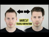 Mens Curly Hair Tutorial - Top Knot To Slick Back ad