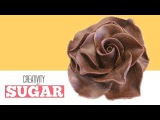 How To Make a Chocolate Flower | White Modeling Chocolate Rose Petals | Creativity with Sugar