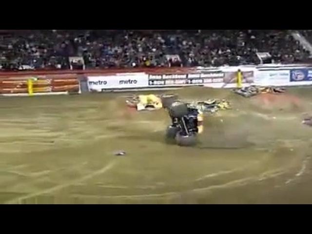 Monster truck break dance