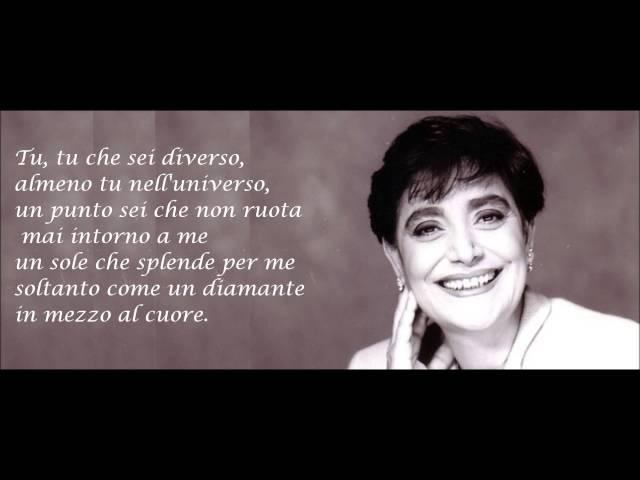 Mia Martini - ALMENO TU NELL'UNIVERSO testo