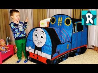 Томас и его Друзья в Гостях у Ромы и Трек Паровозик Томас Thomas & Friends motorized railway track