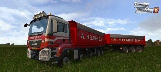 С прицепом грузовик «MAN TGX A»
