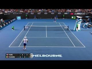 НЕРЕАЛЬНАЯ ЗАЩИТА ФАБИО (Fognini-Paire hot shot at Australian Open 2017)