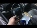 Автозапуск Pandora DX50 с родного ключа Toyota Camry