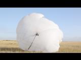 Д-6 приземление  и гашение купола. ЦПП Караганды 2016 год