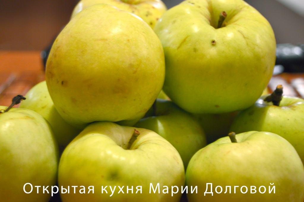 Яблоки фаршированные курицей и сыром