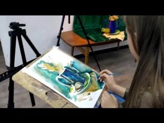 Школьный конкурс по живописи