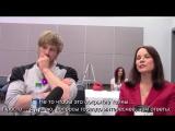 Damien - Bradley James, Barbara Hershey Interview RUS SUB