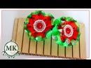 Резинки для волос со складочками по шаблону Канзаши МК DIY Kanzashi Hair bands with pleats