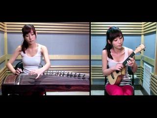 【天空の城ラピュタ 君をのせて】 Ukulele & Guzheng cover by 丁霜語 Vanessa Ding