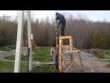 Установка столбов для забора. Как забить столбы Электрической кувалдой за минуту!