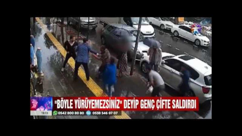 Diyarbakır'da 'Böyle yürüyemezsiniz' dediği genç çifte hücum etti ama