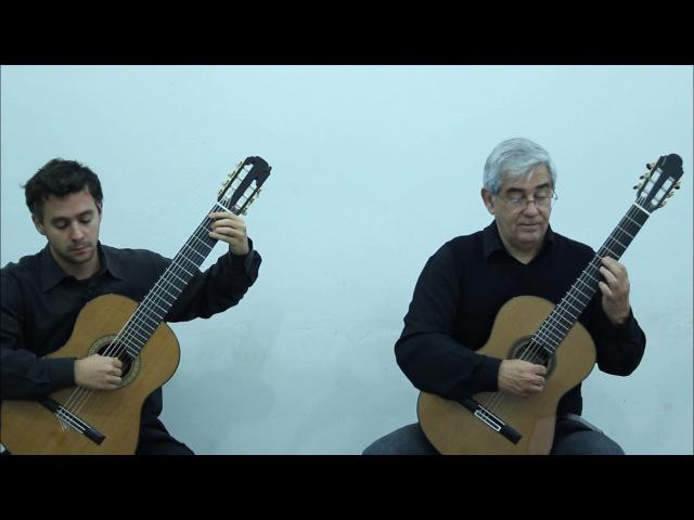 Brasilis Guitar Duo play Toccata and Fugue, BWV 565 (J. S. Bach)