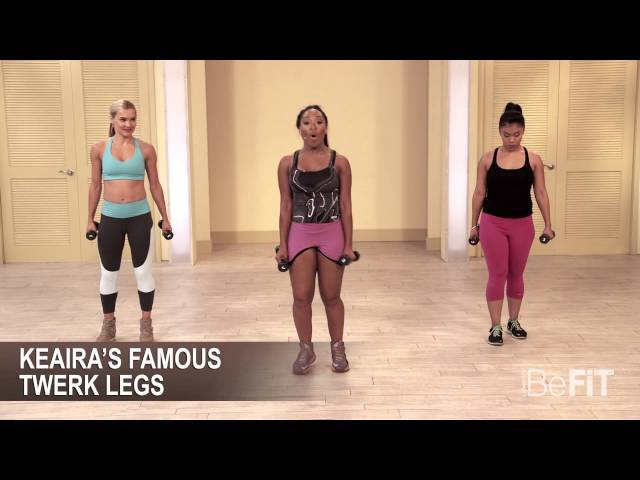 Keaira LaShae - Cardio Dance Workout with Weights. Burn to the Beat. BeFit