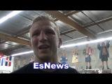 TJ Dillashaw After Sparring Vasyl Lomachenko EsNews Boxing