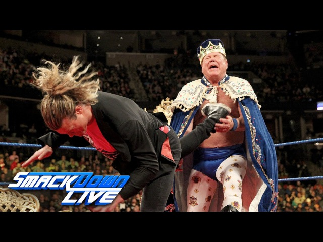 Jerry The King Lawler gets crowned by Ziggler on King's Court: SmackDown LIVE, Jan. 17, 2017