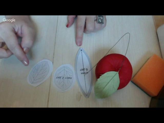 Мастер класс Спелые Яблочки в технике грунтованный текстиль