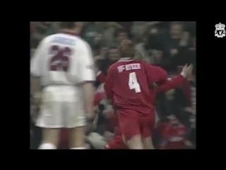 Первый гол Джейми Каррагера за «Ливерпуль»