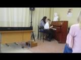 Первое выступление в музыкальной студии