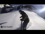 My first track in deep powder at wild mountain with favorite music in my ears