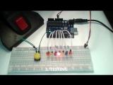 Arduino simple leds light button control (4 modes)