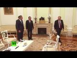 Строгая собака Путина по кличке Юмэ облаяла японских журналистов