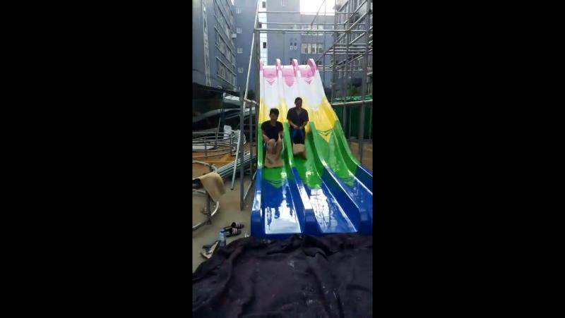 The devil slide of indoor playground.