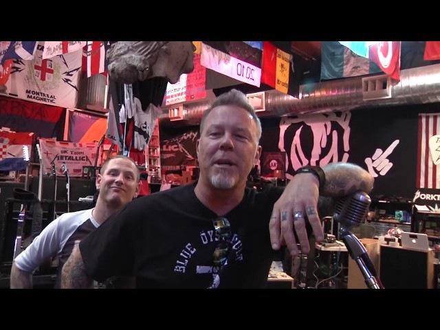 Corey Taylor and James Hetfield