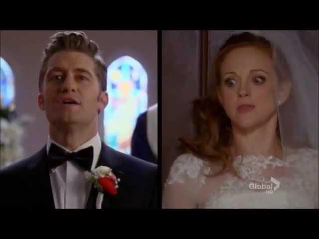 Emma singing before her wedding - Glee