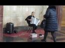 Музыканты в метро Москва станция Курская Баянистка виртуоз