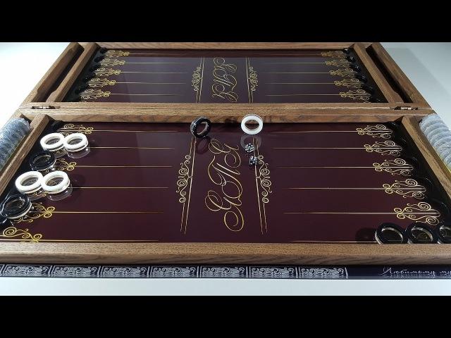 Нарды ЯПЯ шоколадные стеклянные подарочные эксклюзивные именные с монограммой инициалов